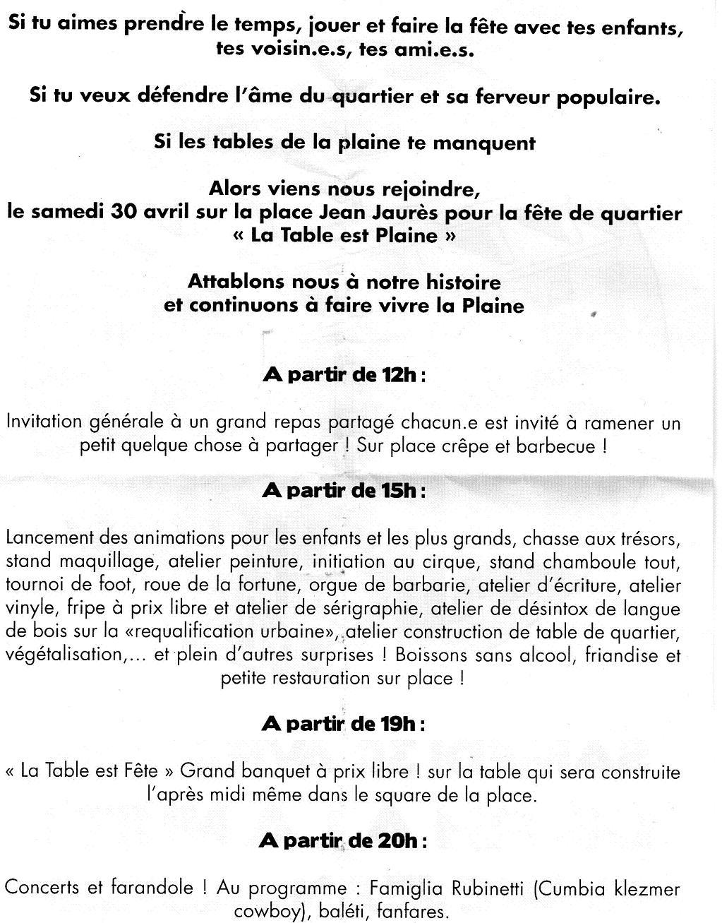 Le Marché De La Plaine